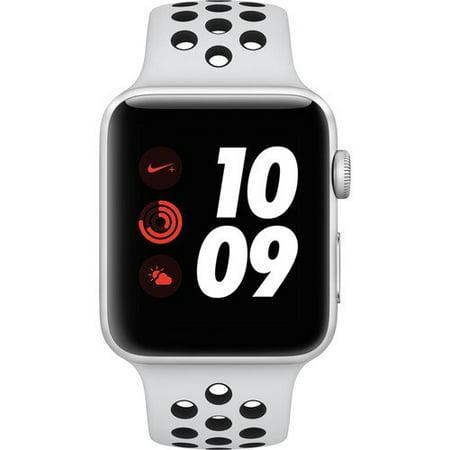 Apple Watch Nike+ Series 2, 38MM, GPS, Silver Aluminum Case, Pure  Platinum/Black Nike Sport Band (Refurbished)