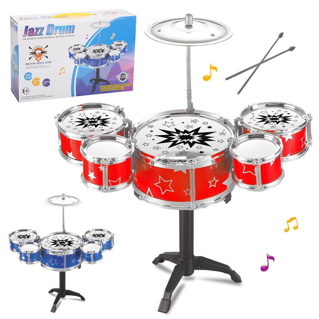 Kids Toy Jazz Drum Kit Musical Instrument Toy Early Educational Toy Caroj - image 2 of 3