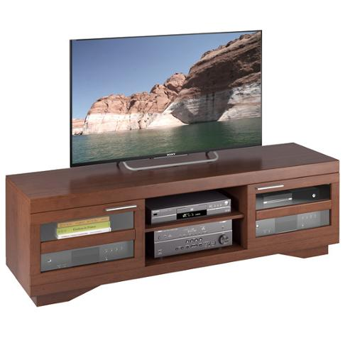 Sonax Granville Wood Veneer TV Bench, (for TVs up to 80 inches) Warm Cinnamon