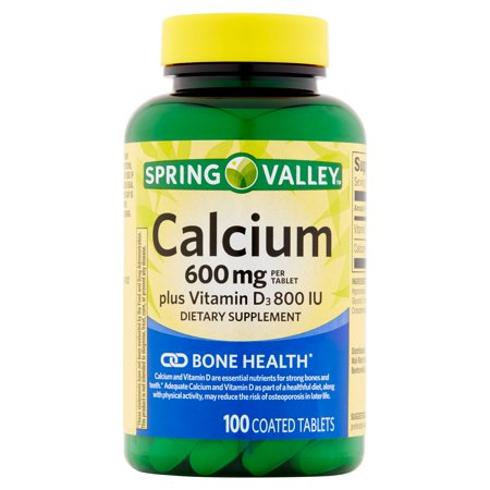 Spring Valley calcium avec vitamine D 600 mg
