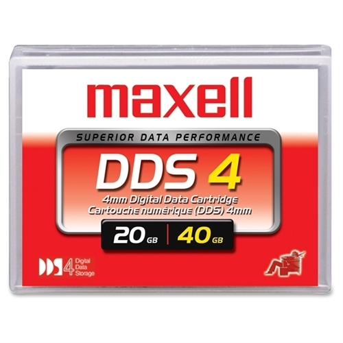 "Maxell 200028 1/8"" DDS-4 Cartridge, 150m, 20GB Native/40GB Compressed Capacity"