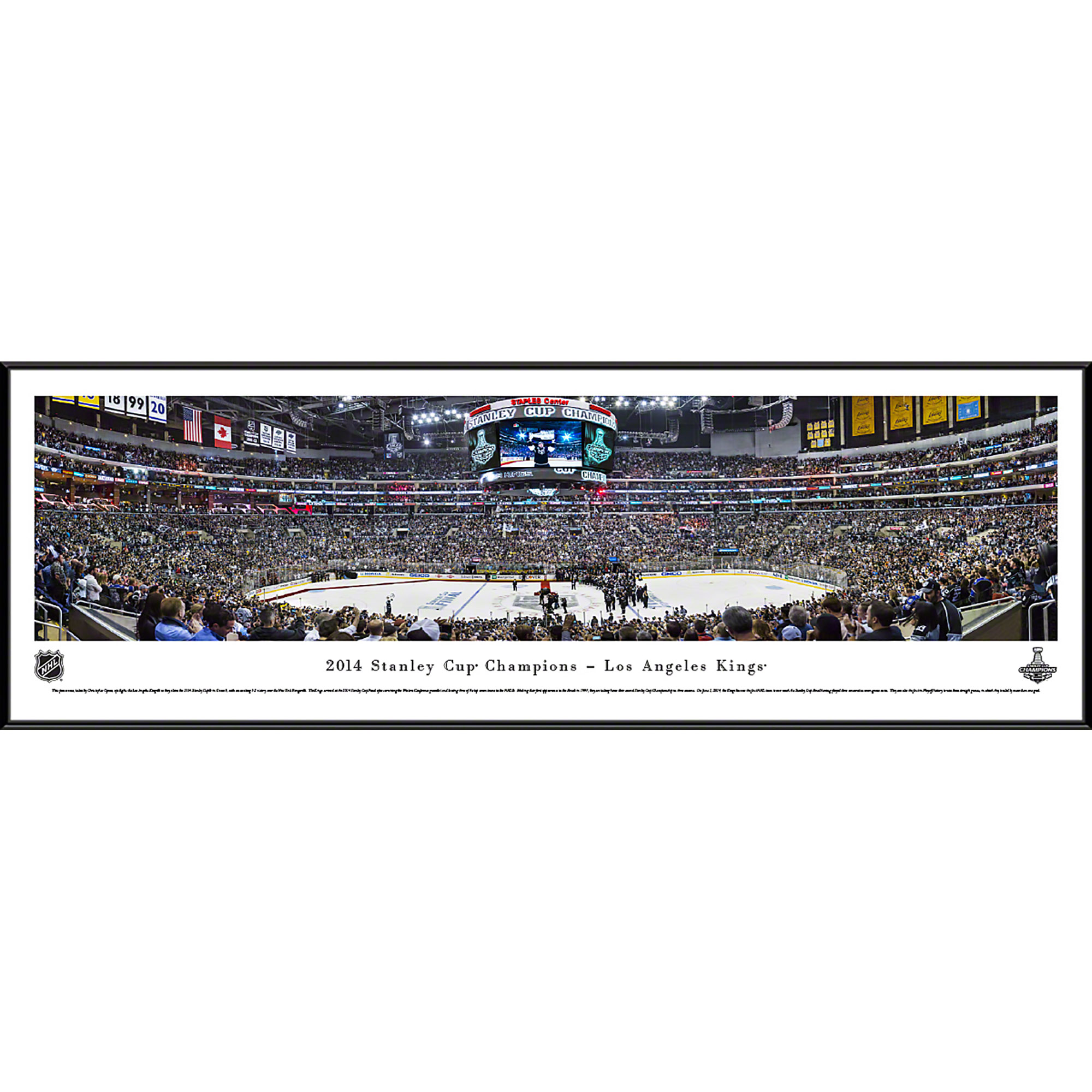 2014 Stanley Cup Champions - Los Angeles Kings - Blakeway Panoramas NHL Print with Standard Frame
