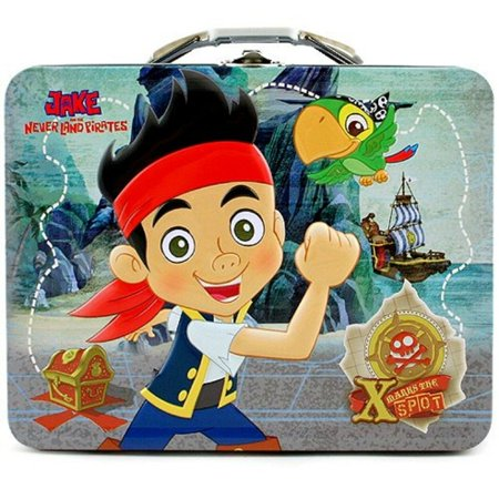 Jake and the Neverland Pirates Square Tin Stationery or Small Lunch Box - Blue