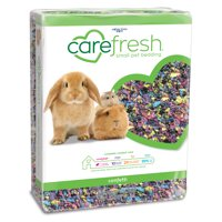 carefresh confetti natural paper small pet bedding, 50L