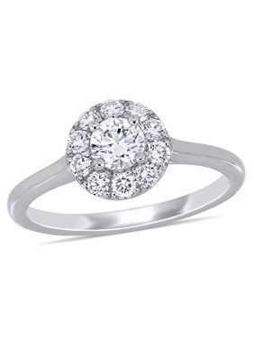 66b8704c00 Product Image Miabella 3/4 Carat T.G.W. Lab-Grown Diamond 14kt White Gold  Halo Engagement Ring