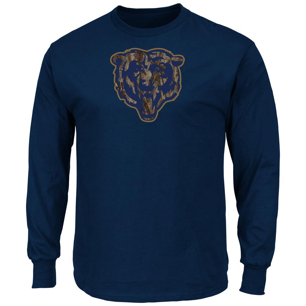 Crew Neck Majestic Camo Chicago Bears Long Sleeve Tee
