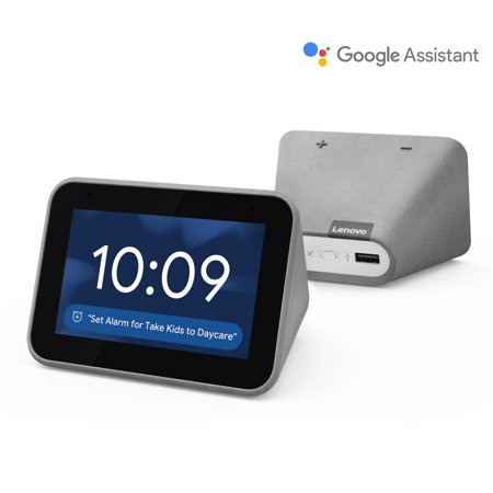Lenovo Smart Clock with Google Assistant - Chalk