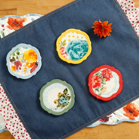 Portmeirion Coasters - The Pioneer Woman Flea Market Coasters, Set of 4