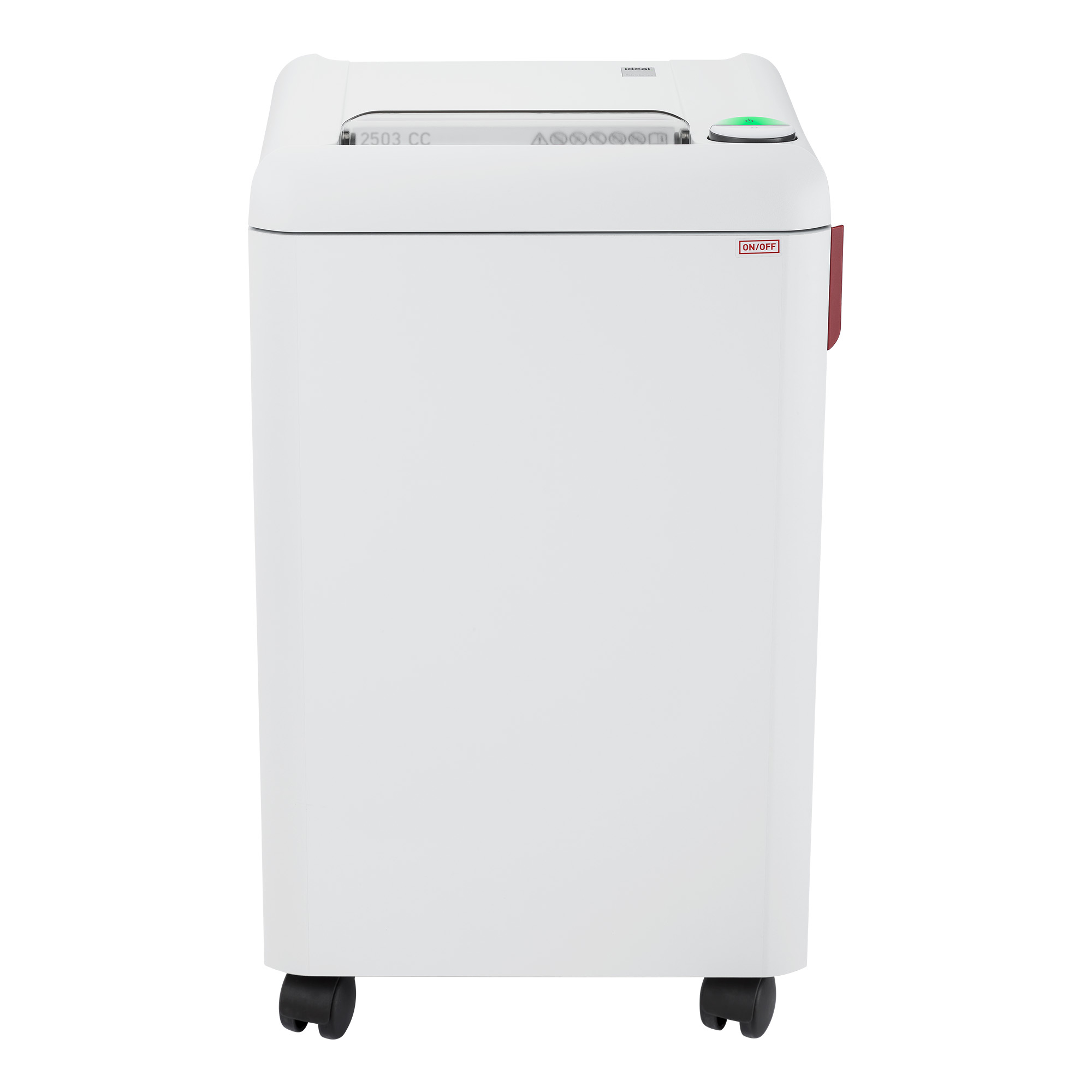 ideal.™ 2503 Continuous Operation Cross-Cut Centralized Office Paper/Staple/Paper Clip/Credit Card