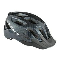 Schwinn Outlook Adult Bike Helmet, ages 14+, black carbon