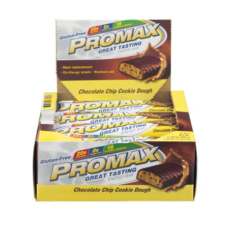 Promax Gluten-Free Energy Bar Chocolate Chip Cookie Dough - 12 CT