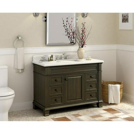 Single Bathroom Vanity - Lanza WF6953-48 Kingsley 48 In. Single Bathroom Vanity - Walmart.com