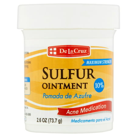 De La Cruz Sulfur Ointment Acne Medication 10   2 6 Oz
