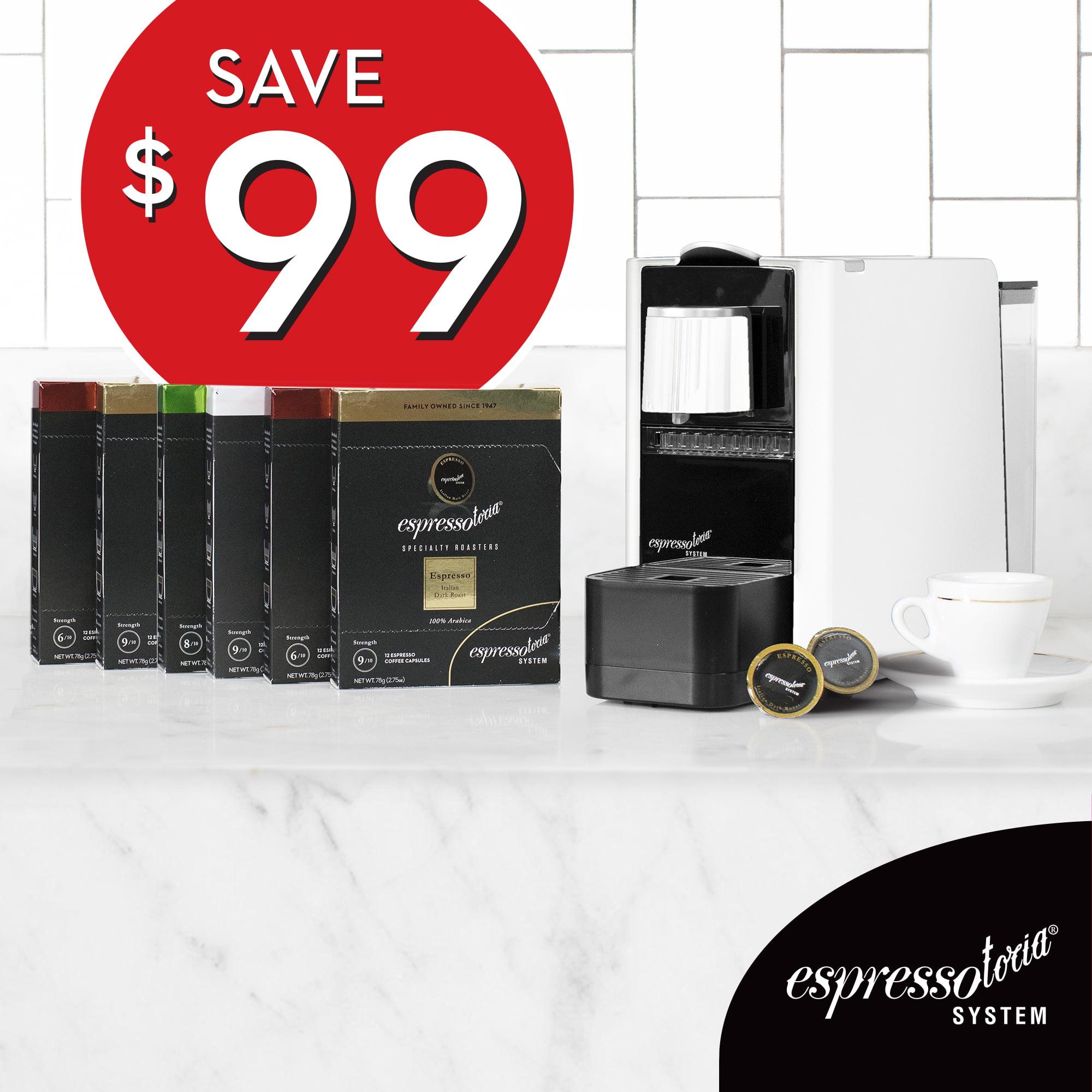 Meet Espressotoria. Buy 6 coffee pod packs, get FREE Espressotoria Machine.