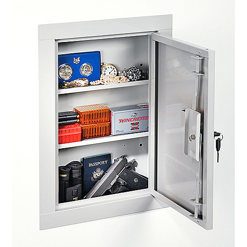 Stack-On Mid-Size In-Wall Gun Cabinet, Beige