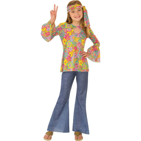 Girls Flower Child Costume - Flower Power Girl Costume