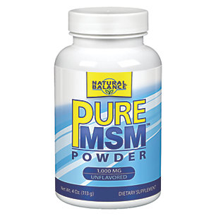 Pure MSM Powder 1000 mg Natural Balance 4 oz Powder