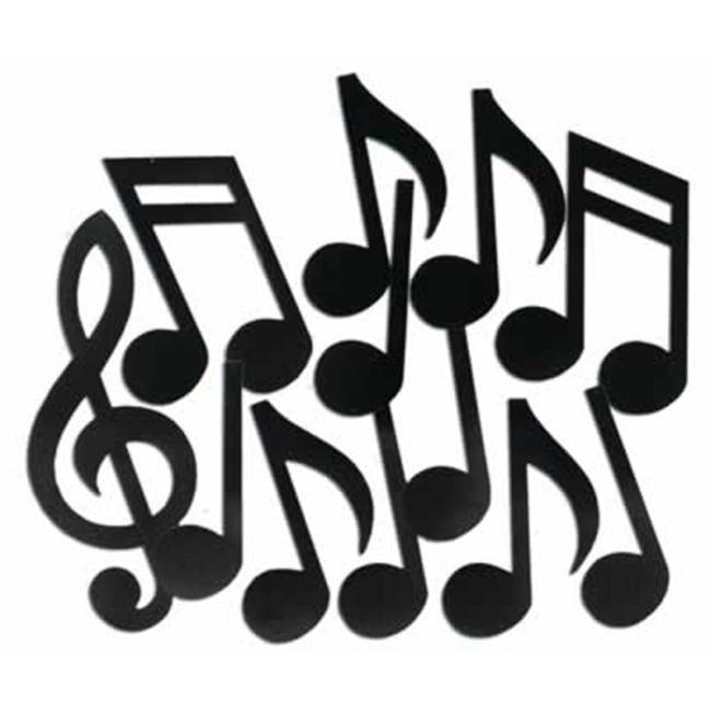 Beistle - 55295 - Printed Musical Note Silhouettes- Pack of 12