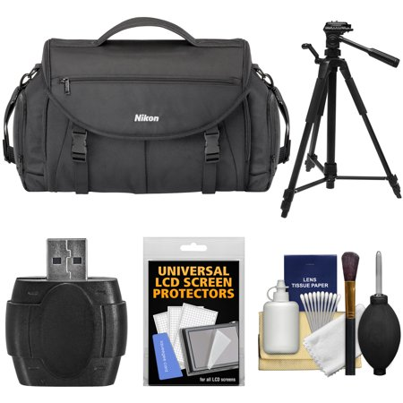 Nikon 17008 Large Pro DSLR Camera Bag with Tripod + Kit for D3200, D3300, D5300, D5500, D7100, D7200, D610, D750, D810