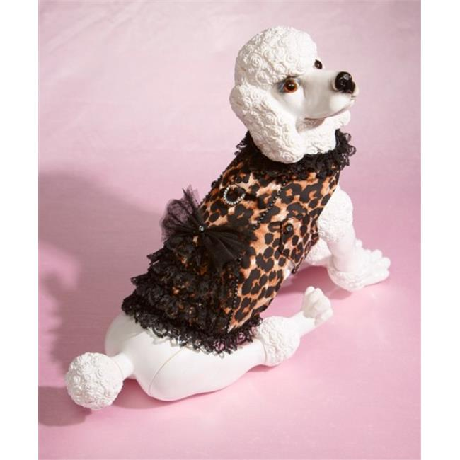 Hollywood Poochie HP808 Corset Harness Leopard Print Fully Lined Doggie Wear, XXS