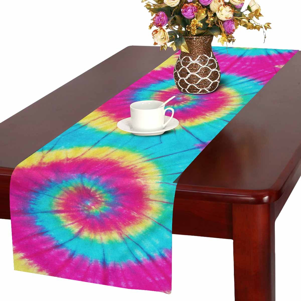 Home Decoration Starry Sky Pattern Printed Mesh Table Mat  Birthday Party Y2