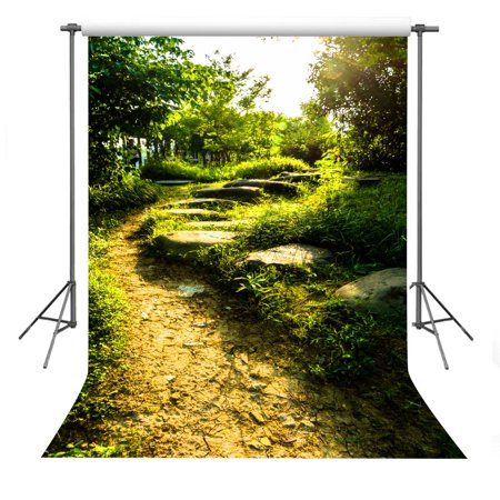 EREHome Polyester Fabric Photo Background 5x7ft Forest Road Photography Backdrop Props Room Mural - image 1 de 2
