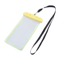 Unique BargainsOutdoor PVC Water Resistant Protector Bag Dry Pouch Yellow for 5.5 Inch Phone
