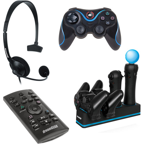 Dreamgear PS3 4-in-1 Starter Pack includes Wireless Controller for PlayStation 3