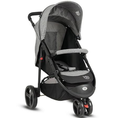 Baby Joy Portable 3 Wheel Folding Baby Stroller Kids Travel Pushchair Newborn