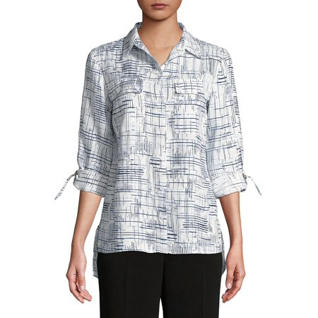 Graphic Linen Button-Down Shirt