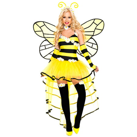 Deluxe Queen Bee Costume, Sexy Deluxe Queen Bee Costume](Women Bee Costume)