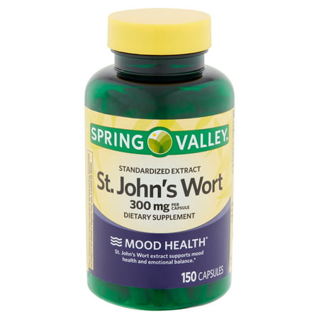 Spring Valley Standardized Extract St. John's Wort Capsules, 300 mg, 150