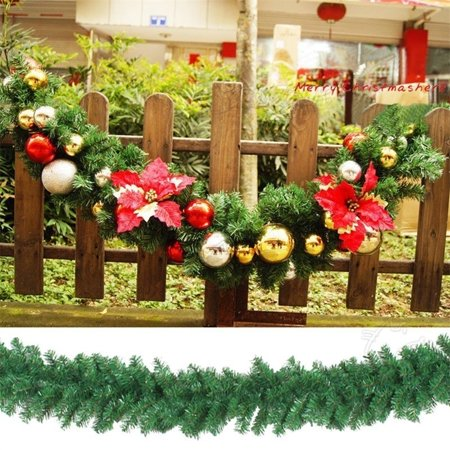 1/2pcs 270cm x 25cm Imperial Pine Christmas Garland Tree Fireplace Green Decorations ()