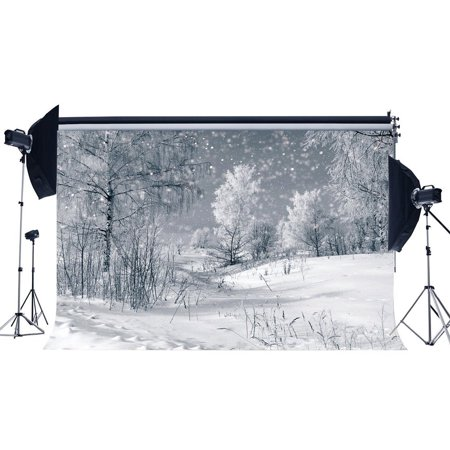 Jungle Tree Backdrop (HelloDecor Polyster 7x5ft Photography Backdrop Christmas Snow Covered Landscape Jungle Forest Trees Nature Winter Scene Xmas Backdrops Happy New Year Background Baby Kids Adults Photo Studio)