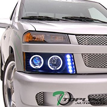- Blk Drl Led Halo Rims Projector Head Lights Lamp Chevy Colorado/Gmc Canyon
