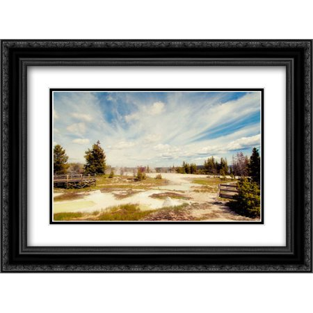 Mudpots and Geysers 2x Matted 24x18 Black Ornate Framed Art Print by Murray, Roberta