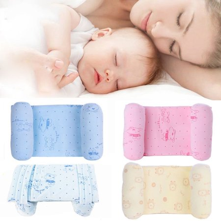 Baby Sleep Positioner Infant Newborn Anti Roll Pillow Prevent Safe Head Cushion