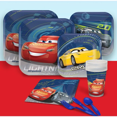 Disney Cars Party Supplies (Disney Cars 3 Party Pack for)
