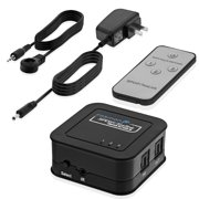 Fosmon HD8026 3 x 1 (SPDIF / Toslink) Digital Optical Audio Switch with Remote Control & AC Adapter (3 Inputs 1 Output)