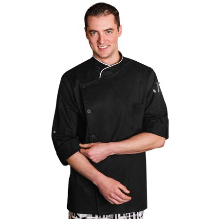 Five Star Chef Apparel Men's Long Sleeve Executive Stretch Chef (Executive Chef Uniform)