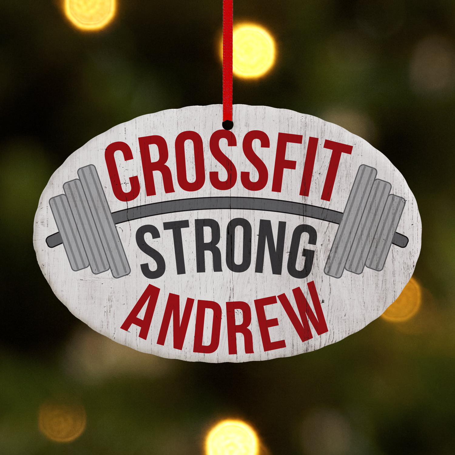 Personalized CrossFit Oval Ornament