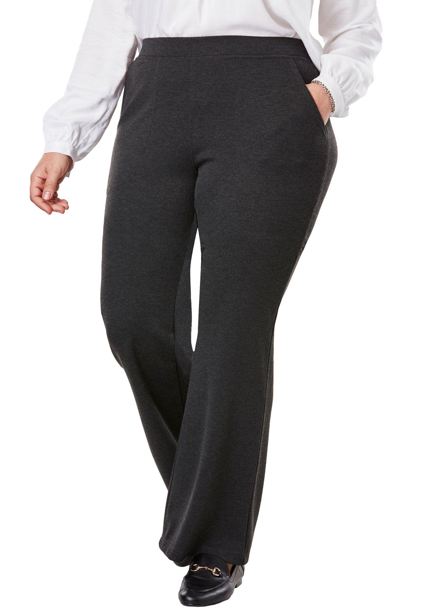 Woman Within Plus Size Wide Leg Ponte Knit Pant