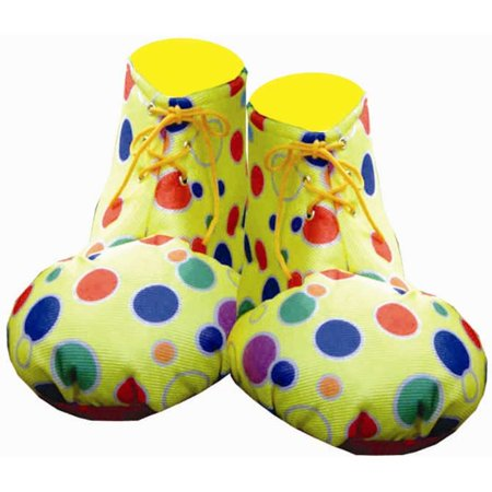 Yellow Polka Dot Clown Adult Shoe Covers