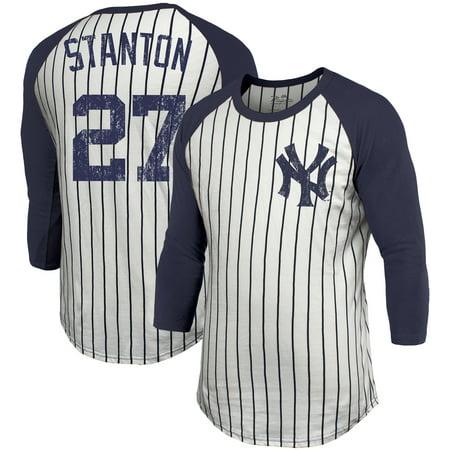 Giancarlo Stanton New York Yankees Majestic Threads Pinstripe 3 4