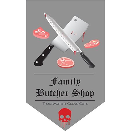 Halloween Decorative Banners Family Butcher Shop