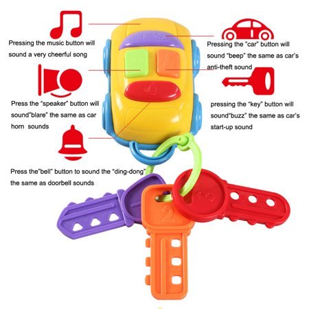 Smart Novelty Vintage Baby Toddler Learning Fun Toy CIKOO Music Car Wash Keys Educational Toys (Vintage Baby Toys)