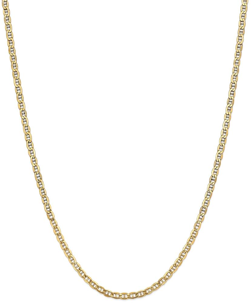 ICE CARATS 14kt Yellow Gold 3.20mm Link Anchor Chain Necklace 24 Inch Pendant Charm Fine Jewelry Ideal Gifts For Women... by IceCarats Designer Jewelry Gift USA