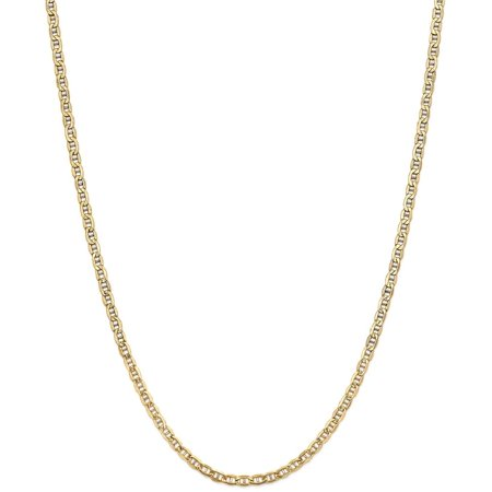 (ICE CARATS 14kt Yellow Gold 3.20mm Link Anchor Chain Necklace 24 Inch Pendant Charm Fine Jewelry Ideal Gifts For Women Gift Set From Heart)