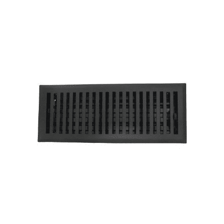 4 x 10 contemporary flat black floor register vent for 10 x 14 floor register