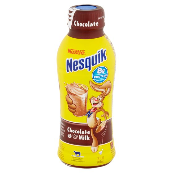 Nestle nesquik chocolate low fat milk 14 oz walmart sciox Choice Image